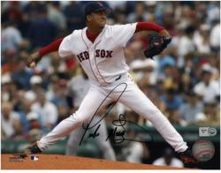 "Pedro Martinez Boston Red Sox Autographed 8"" x 10"" Horizontal Pitching Photograph"