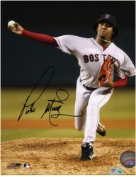 "Pedro Martinez Boston Red Sox Autographed 8"" x 10"" Pitching Photograph"
