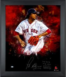 Limited Edition Pedro Martinez Autographed 20x24 In Focus Photo - #1 of 45 Framed