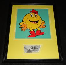 Signed Pacquiao Photograph - Marty Ingels Framed 11x14 Display Voice of Pac Man Cartoon