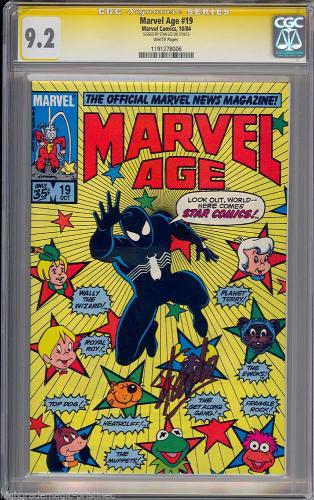 Marvel Age #19 Cgc 9.2 White Ss Stan Lee Signedsig Series Cgc #1191278006