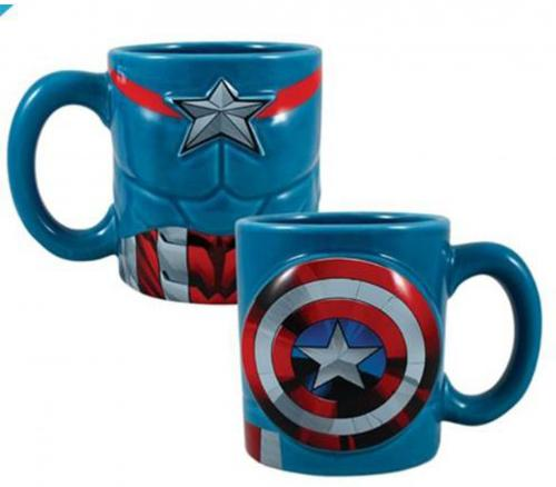 Marvel Captain America 20 oz. Sculpted Ceramic Mug
