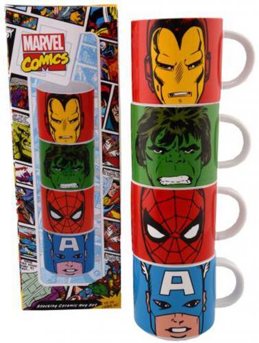 Marvel Comics 4 Piece Stacking Ceramic Mug Set