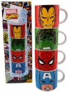 Marvel Comics 4 Piece Stacking Ceramic Mug Set