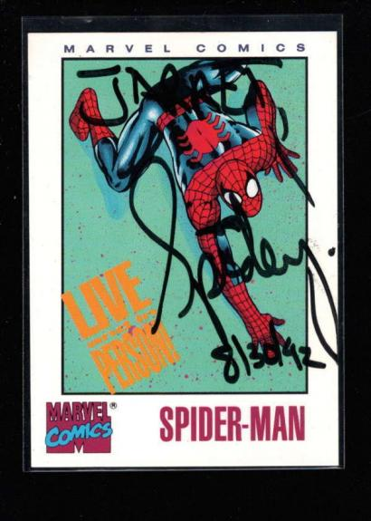 MARVEL COMICS SPIDER MAN (Jared) AUTHENTIC ON CARD AUTOGRAPH SIGNATURE AX6112