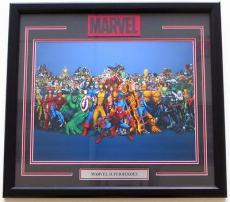 Stan Lee Marvel Comics Characters Framed 16x20 Photo