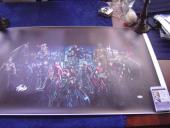 MARVEL COMICS STAN LEE signed 24x40 MOVIE CHARACTER COLLAGE GICLEE CANVAS JSA