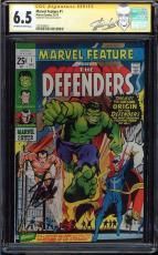 Marvel Feature #1 Cgc 6.5 Oww Ss Stan Lee 1st App Origin Defenders #1227638015