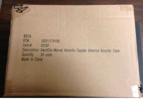 Marvel Heroclix Captain America Booster Case Brand New! (20 Packs)