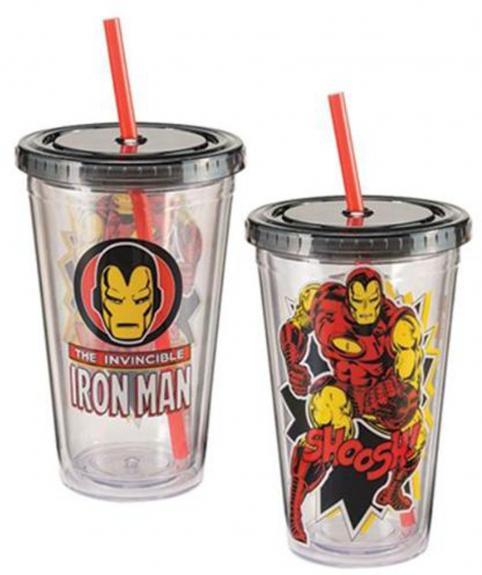 Marvel Iron Man 18 oz. Acrylic Travel Cup