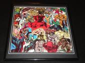 Marvel Monsters 1981 ORIGINAL Framed 12x12 Poster Red Skull Rhino Dracula