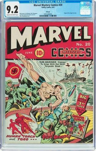 Marvel Mystery Comics #20 Cgc 9.2 Chicago Pedigree Highest Graded #0701446003