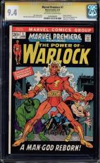 Marvel Premiere #1 Cgc 9.4 Oww  Ss Stan Lee Origin Of Warlock Cgc #1206494001