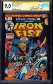 Marvel Premiere #15 Cgc 9.0 White Ss Stan Lee Iron Fist And Origin #1227704011