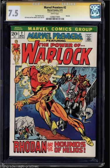 Marvel Premiere #2 Cgc 7.5 White Ss Stan Lee Signed Warlock Cover  #1206677005