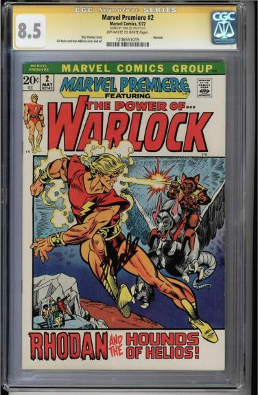 Marvel Premiere #2 Cgc 8.5 Oww Ss Stan Lee Warlock Cover & App Cgc #1206551015