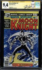 Marvel Spotlight #28 Cgc 9.4 White Ss Stan Lee 1st Solo Moon Knight #1508477003