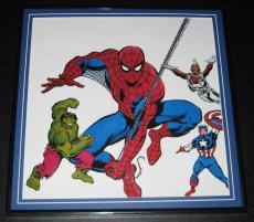 Marvel Universe Original Framed 1988 Poster 12x12 Spiderman Hulk Captain America