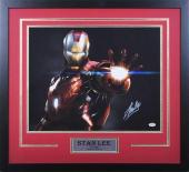 Marvel's Avengers - Iron Man 16 x 20 Glowing Hand Signed by Stan Lee - Professionally Framed