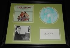 Marvin Hamlisch Signed Framed The Sting CD Soundtrack Display