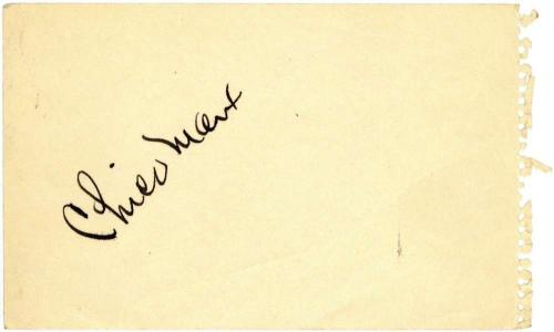 Marx Brothers Chico Marx Signed Autographed 3x4 Album Page Beckett BAS