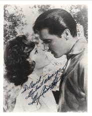 MARY ANN MOBLEY HAND SIGNED 8x10 PHOTO+COA      WITH ELVIS PRESLEY      TO DAVID