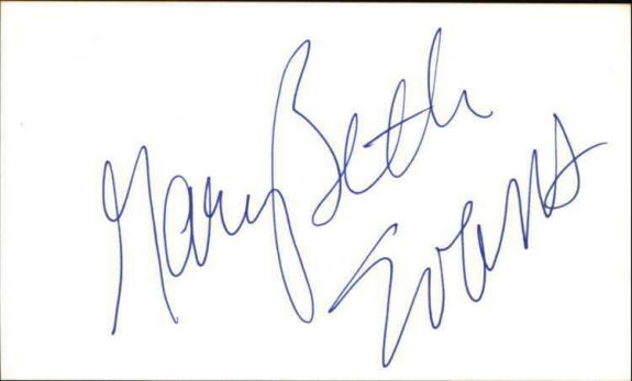 "MARY BETH EVANS DAYS OF OUR LIVES Signed 3""x5"" Index Card"