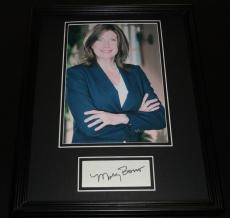 Mary Bono Signed Framed 11x14 Photo Poster Display