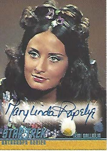 """MARY - LINDA RAPELYE as IRINI GALLIULIN in  """"THE WAY TO EDEN"""" on """"STAR TREK"""" Signed 2004 PARAMOUNT PICTURES CARD"""