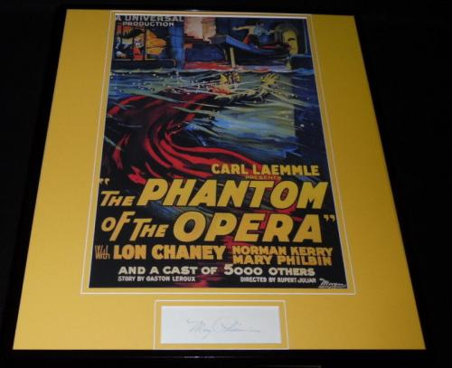 Mary Philbin Signed Framed 16x20 Phantom of the Opera Poster Display