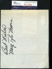 Mary Tyler Moore Jsa Coa Hand Signed Album Page Authenticated Autograph