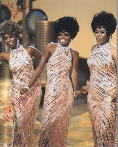 MARY WILSON HAND SIGNED 8x10 COLOR PHOTO+COA       THE SUPREMES        TO DAVE