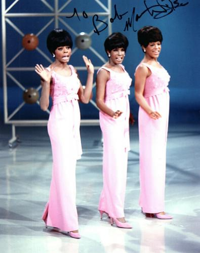 MARY WILSON HAND SIGNED 8x10 COLOR PHOTO+COA   WITH DIANA ROSS+SUPREMES   TO BOB