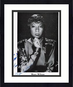 MARY WILSON HAND SIGNED 8x10 PHOTO+COA        THE SUPREMES       TO DAVID
