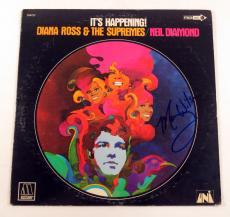 Mary Wilson Signed Album Diana Ross, Supremes & Neil Diamond Happening w/ AUTO