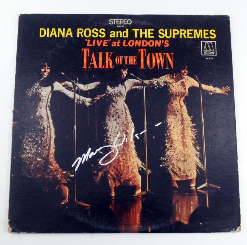 Mary Wilson Signed Album Diana Ross & The Supremes Talk of the Town w/ AUTO
