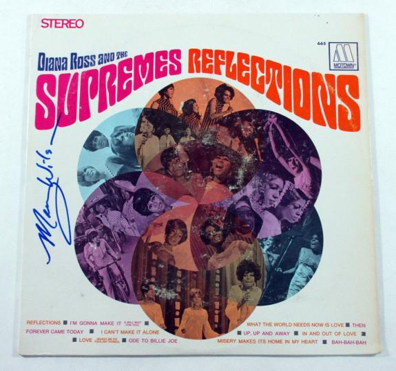Mary Wilson Signed LP Record Album The Supremes Reflections w/ AUTO