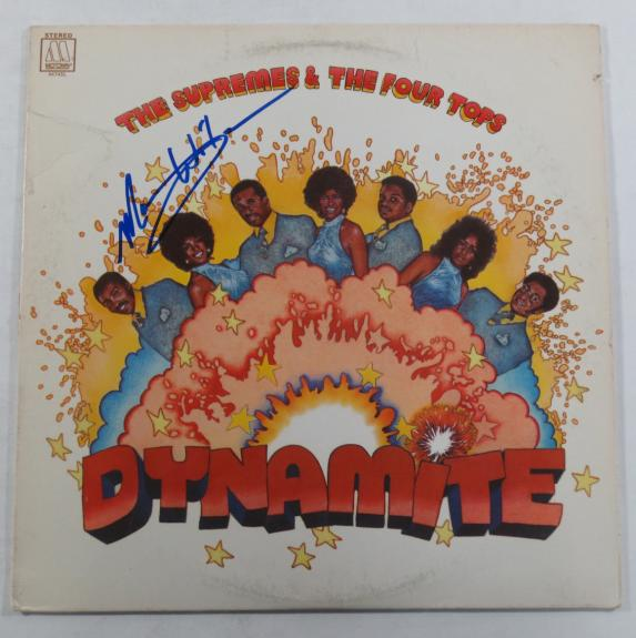 Mary Wilson Signed LP Record Album The Supremes & The Four Tops Dynamite w/ AUTO