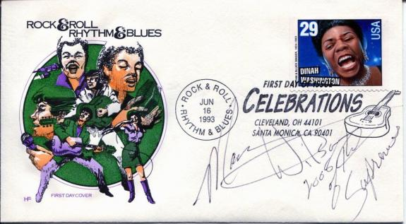 Mary Wilson The Supremes R&B Singer Signed Autograph FDC
