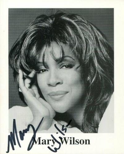 Mary Wilson The Supremes R&B Singer Signed Autograph Photo