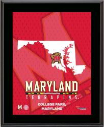 MARYLAND TERRAPINS (STATE) 10x13 PLAQUE (SUBL) - Mounted Memories