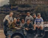 Mash Cast Signed Photo Alan Alda Bill Christopher Larry Linville & Cast Rare!!
