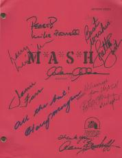"M*A*S*H"" Signed Script By ALAN ALDA, LORETTA SWIT, JAMIE FARR, HARRY MORGAN, MIKE FARRELL, GARY BURGHOFF, WILLIAM CHRISTOPHER, and LARRY LINVILLE"