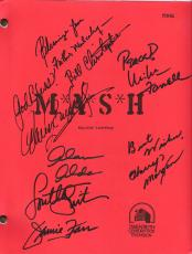 "M*A*S*H"" TV Script Signed by ALDA, BURGHOFF, CHRISTOPHER, FARRELL, MORGAN, FARR, and SWIT AWESOME!"