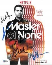 Master of None cast signed autographed 8x10 photo! Aziz Ansari! Beckett BAS COA!