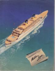 Maston Lines Souvenir Passenger List Dec. 22, 1949 Clark Gable Honeymoon Cruise