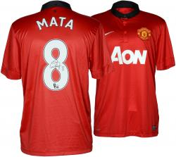 Juan Mata Autographed Jersey - Red Back Mounted Memories