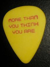 Matchbox 20 Twenty Concert Tour Signature Yellow Guitar Pick Rare