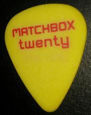 Matchbox 20 Twenty Concert Tour Signature Yellow/red Guitar Pick Rare