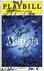 Matilda Hand Signed Ny City Playbill+coa      Signed On Cover By Cast